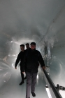 In the tunnel to the ice carvings