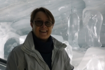 With some ice carvings