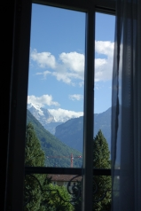 The view from the hotel window - sitting on the floor
